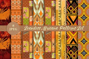 AFRICANA 8 seamless patterns set