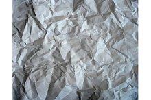 Set texture of crumpled paper.