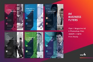 Corporate Flyer Templates 6PSD - #4