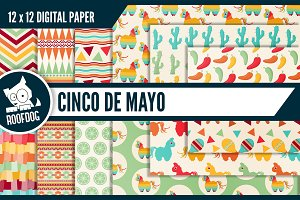 Cinco de Mayo themed digital papers