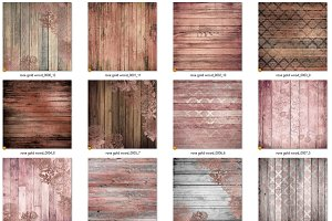 Rose Gold Wood Textures