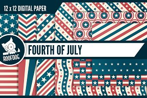 Vintage USA Fourth of July pattern