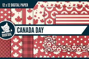 Canada themed digital backgrounds