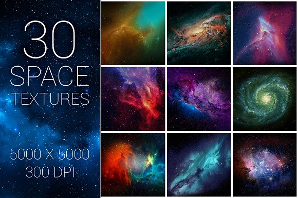 30 Space Nebula Galaxy Textures