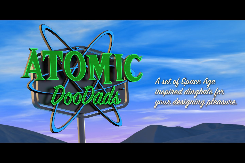 Atomic Doodads Symbol Fonts Creative Market