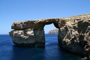 The blue window in Malta