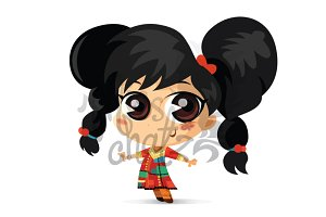 Ethnic Girl Illustration