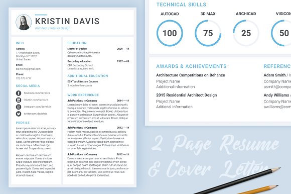 modern resume template resume templates creative market