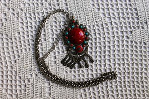 Necklace  in Crochet Background