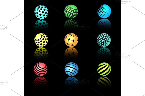 Sphere 3D Objects With Texture