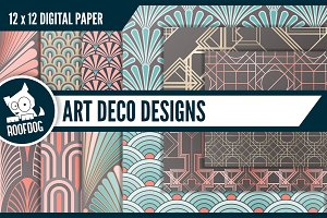 1930s Art Deco digital papers