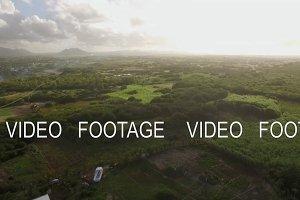 Aerial landscape of Mauritius Island