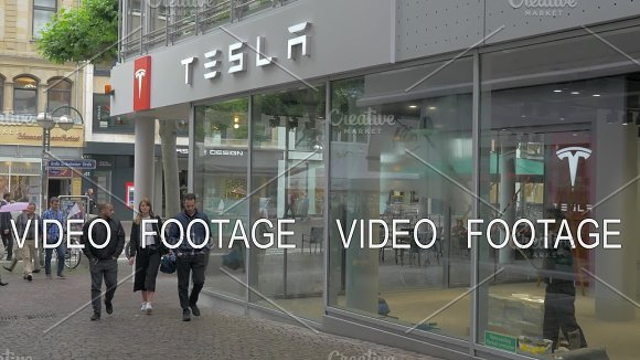 Tesla Store And Service Centre In Frankfurt Germany