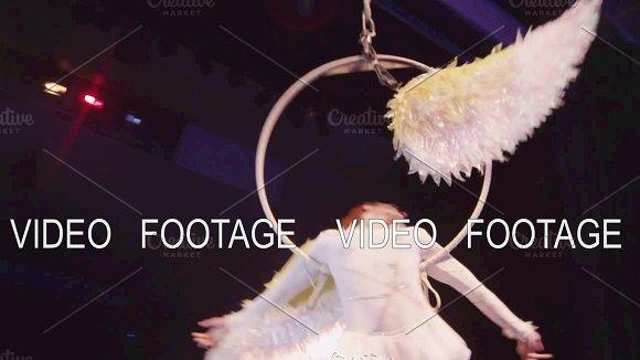 Aerial Acrobatics On The Hoop