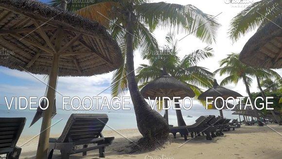Summer resort on the coast in tropics