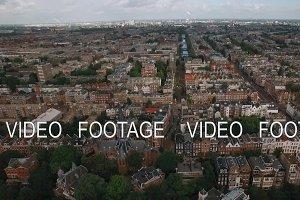 Amsterdam aerial panorama, Netherlands