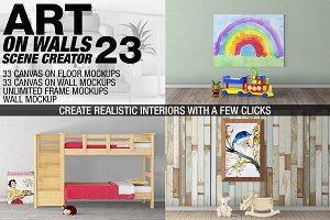 Canvas Mockups - Frames Mockups v 23