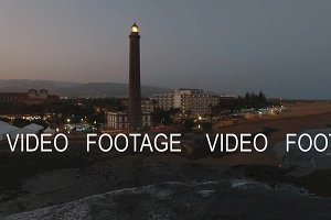 Maspalomas Lighthouse on Gran Canaria, aerial view