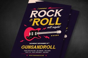 Rock And Roll All Night Flyer