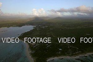 Mauritius Island, aerial view