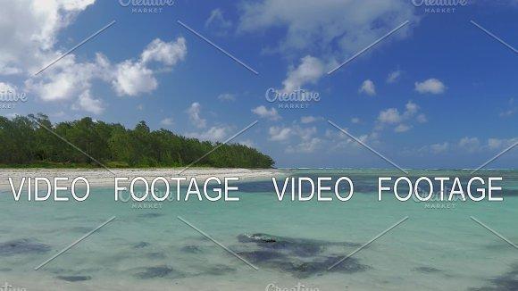 Scene With Island Coast And Blue Lagoon