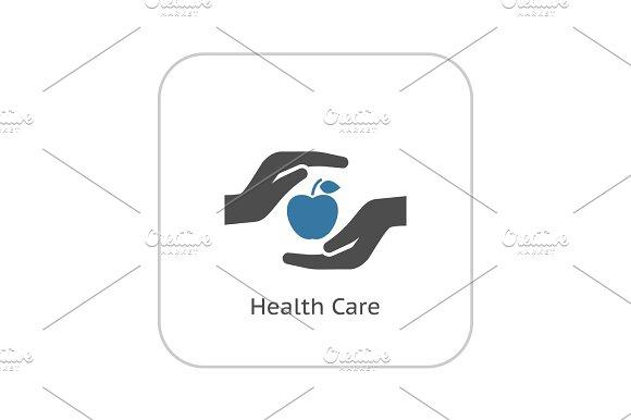Health Care Icon Flat Design