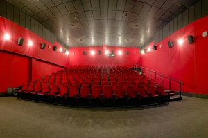 Red cinema hall
