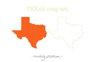 VECTOR & PNG Texas map clip art