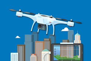 Drone delivery posters and banners