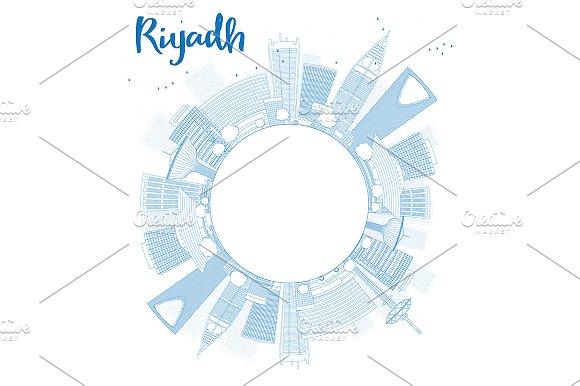 Outline Riyadh Skyline