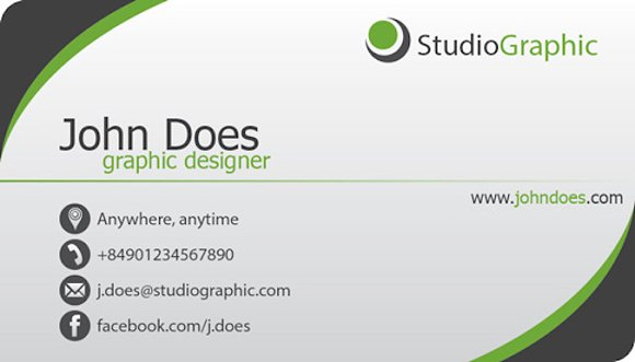 Simple Business Card Template Business Card Templates Creative - Template of business card
