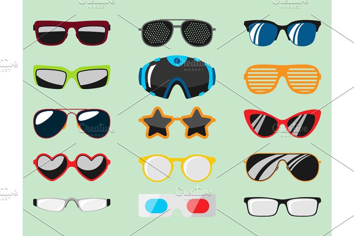 5ad5981eae8 Fashion set sunglasses accessory sun spectacles plastic frame modern ...