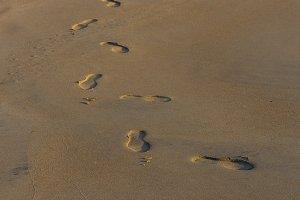 Footprints background.