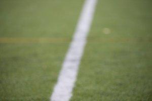 line delimiting grass sports field