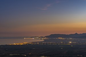Dusk in Castellon coast.