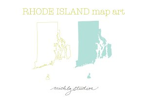 Rhode Island VECTOR & PNG map art