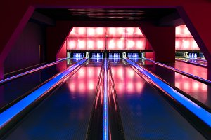 A beautiful modern luxury bowling