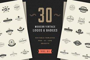 30 Vintage logos & badges