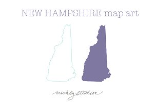 New Hampshire VECTOR & PNG map art