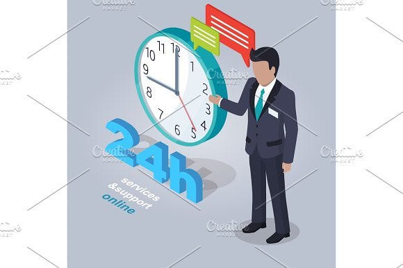 24 Hours Service And Support Online With Assistant