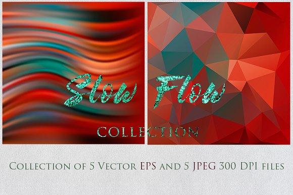 SLOW FLOW 4 Collection Textures Set