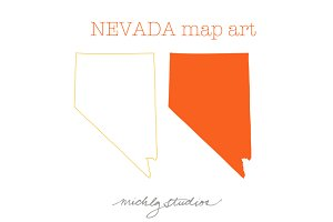 Nevada VECTOR & PNG map clipart