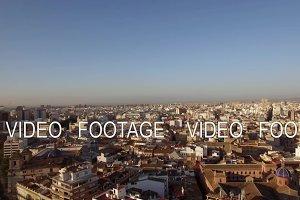 Valencia panorama, aerial view