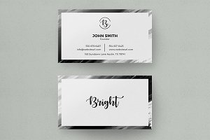 Bright - Simple Clean Business Card