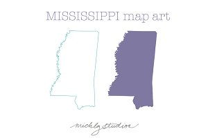 Mississippi VECTOR & PNG map art