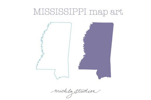 Mississippi VECTOR & PNG map art