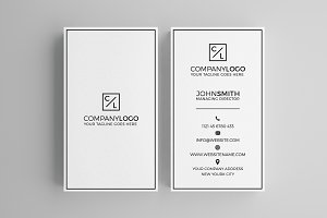 Minimal Modern Business Card V2