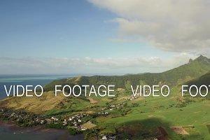 Mauritius aerial scene