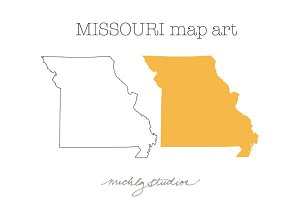 Missouri VECTOR & PNG map art