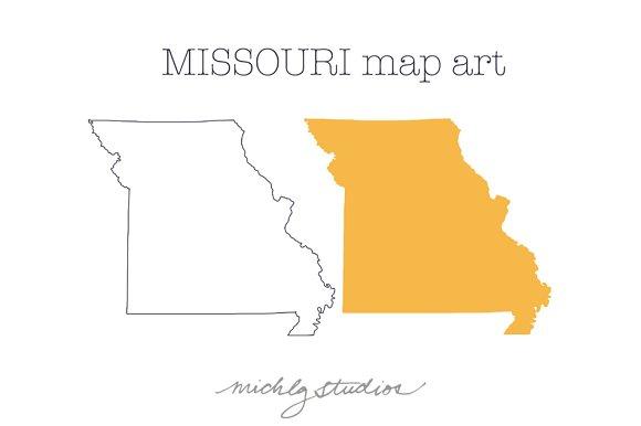 Missouri VECTOR & PNG map art